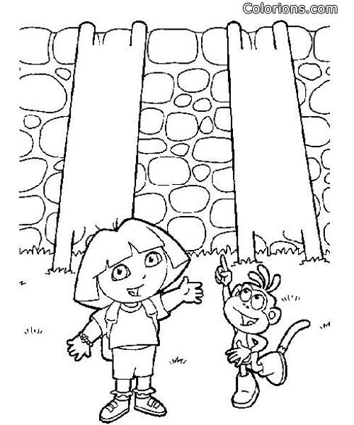 Colorions.com - impression Dora l'exploratrice