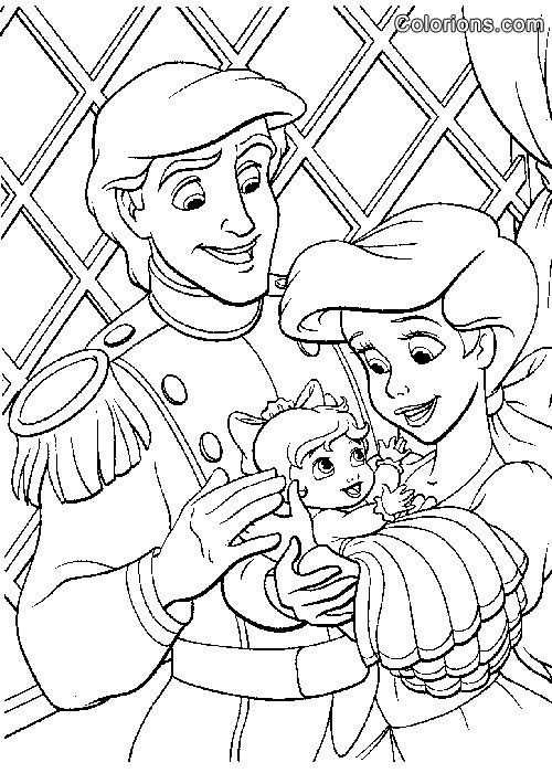 Little Mermaid Wedding Coloring Pages Download