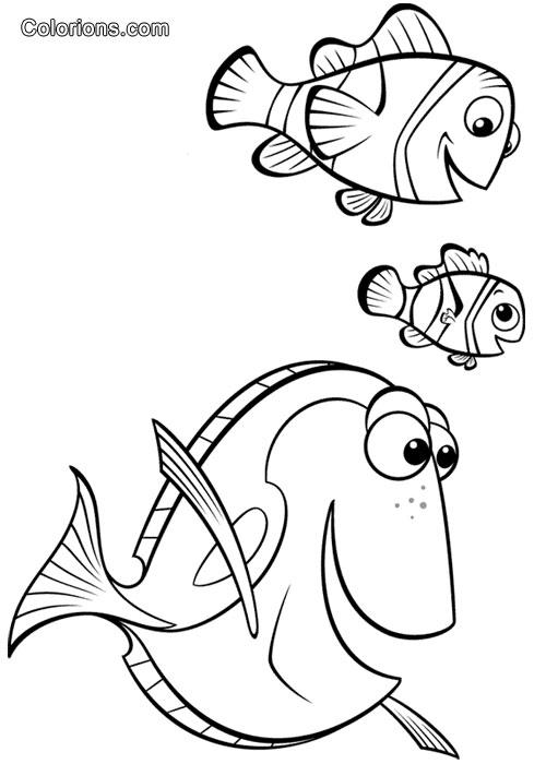 Galerie le monde de nemo - Nemo coloriage ...