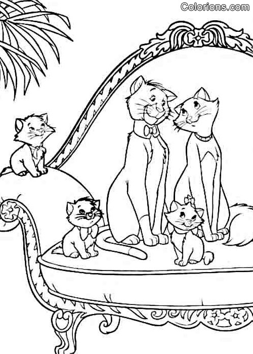 Galerie les aristochats - Coloriage aristochat ...