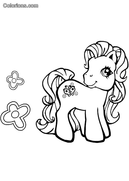 Galerie mon petit poney - Coloriage petit poney ...