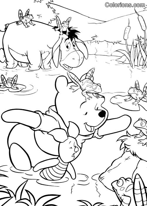 Impression winnie l 39 ourson - Coloriage winni l ourson ...